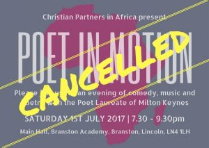 Poet in motion - Cancelled